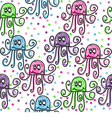 Doodle octopuses vector