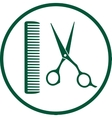 Green hairdresser sign vector