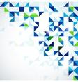 Blue green modern geometric design template vector