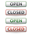 Open - closed color board with shadow on white vector