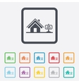 Home sign icon house for sale broker symbol vector