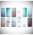 Big banners set science backgrounds microchip and vector