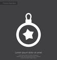 Christmas decoration premium icon white on dark ba vector