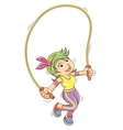Girl playing with a skipping rope vector