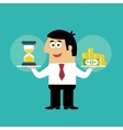 Business life time is money concept vector