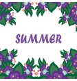Beautiful card with the word summer vector