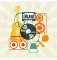 Background with musical instruments in flat design vector