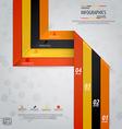 Line infographics 5 vector