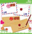 Love envelope - valentine scrapbook elements vector