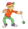 Little boy playing yo yo vector