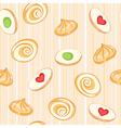 Colored cookies vector