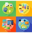 Business steps concept vector