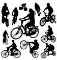 Bicycle set vector