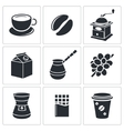 Coffee icon collection vector