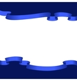 Blue ribbons frame vector