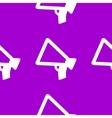 Mouthpiece web icon flat design seamless pattern vector