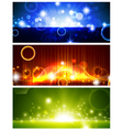 Bright multicolored glowing banners vector