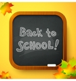 Back to school autumn chalkboard card vector