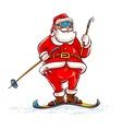 Santa claus on skis vector