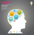 Template modern info-graphic design vector