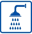 Shower with water drops vector