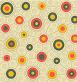 Circular pattern in retro colors gray yellow pink vector