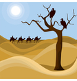 Landscape of desert vector