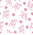 Ballet shoes pattern vector