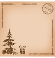 Old vintage postcard - for christmas vector