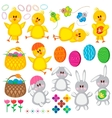 Set of easter elements for your design vector