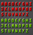 Shiny font alphabet vector