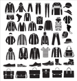 Mens fashion clothes and accessories - vector