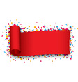 Red curled ribbon vector