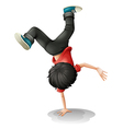 Cartoon break dancer vector