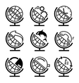 Set of globe vector