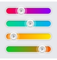 Ui color volume control sliders set vector