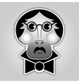 Sticker - man with glasses mustache and bow tie vector