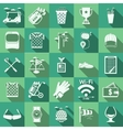 Flat icons for golf vector