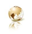 Golden globe vector
