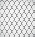 Wire fence on white background vector