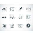 Black optometry icons set vector