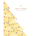 Party decorations bunting christmas tree vector