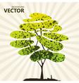 Abstract color tree background green vector