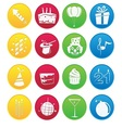 Party icon gradient style vector