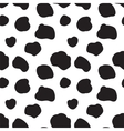 Seamless pattern with spotted cow texture vector
