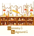 Retro experiments in a chemistry laboratory vector