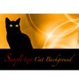 Cat black background vector