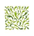 Green footprint frame for your design vector