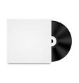 Vinyl record in envelope vector