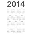 Russian 2014 year calendar vector